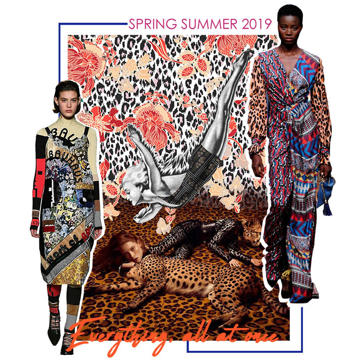 Spring Summer 2019 Print Trend Pattern Overlay The Textile Guild