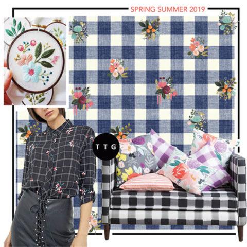 Spring Summer 2019 Pattern Trend: Floral Checks