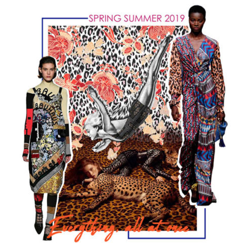 Spring Summer 2019 Print Trend: Pattern Overlay