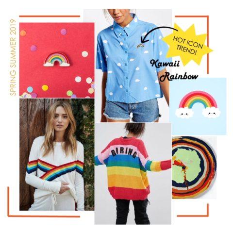Spring Summer 2019 Print Trend: Kawaii Rainbow