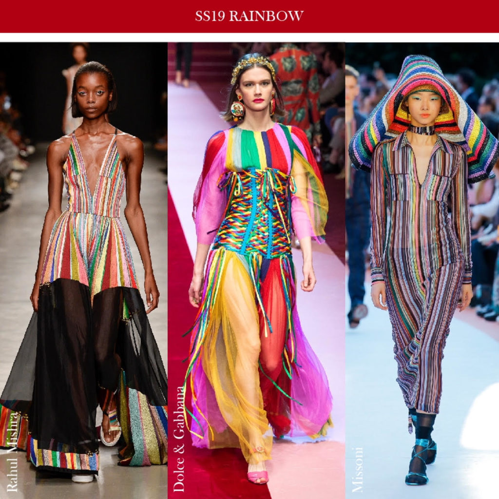 rainbow stripes trend spring summer 2019