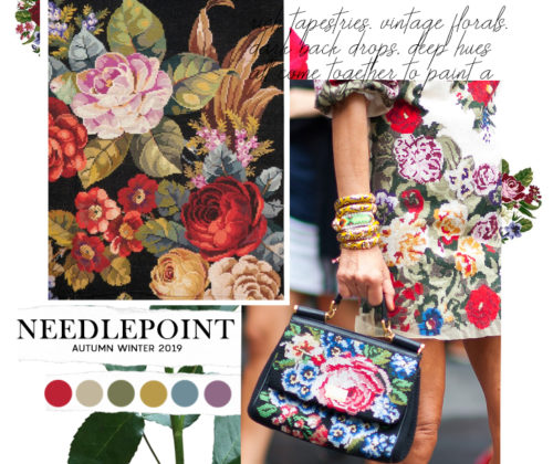 needlepoint trend autumn winter 2019